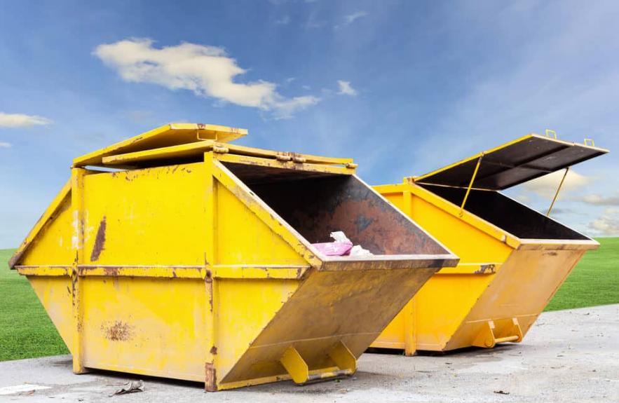 recycling skip bin